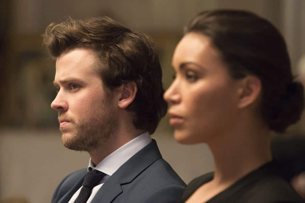 "DECEPTION - ""Sacrifice 99 to Fool One"" - The FBI calls on Jonathan Black to help stop the Mystery Woman from committing her next crime, on ABC's ""Deception,"" airing TUESDAY, APRIL 24 (10:00-11:00 p.m. EDT), on The ABC Television Network. (ABC/Giovanni Rufino) JACK CUTMORE-SCOTT, ILFENESH HADERA"