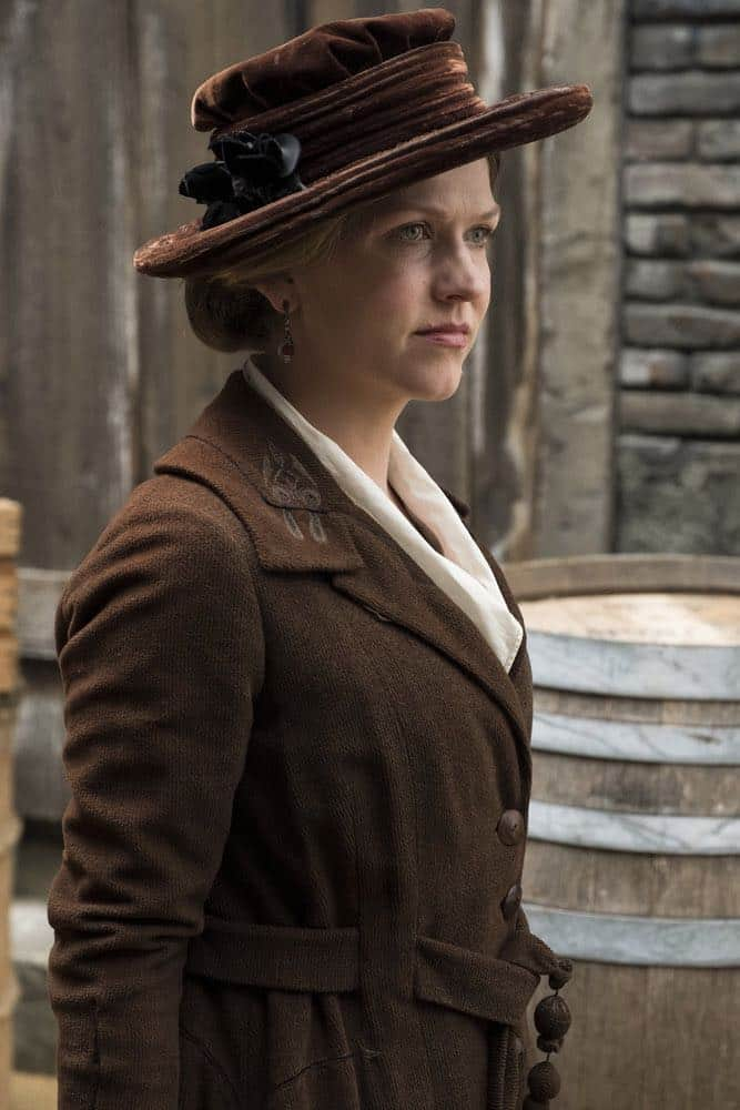 """TIMELESS -- """"Mrs. Sherlock Holmes"""" Episode 207 -- Pictured: Riley Rose Critchlow as Charlotte -- (Photo by: Justin Lubin/NBC)"""