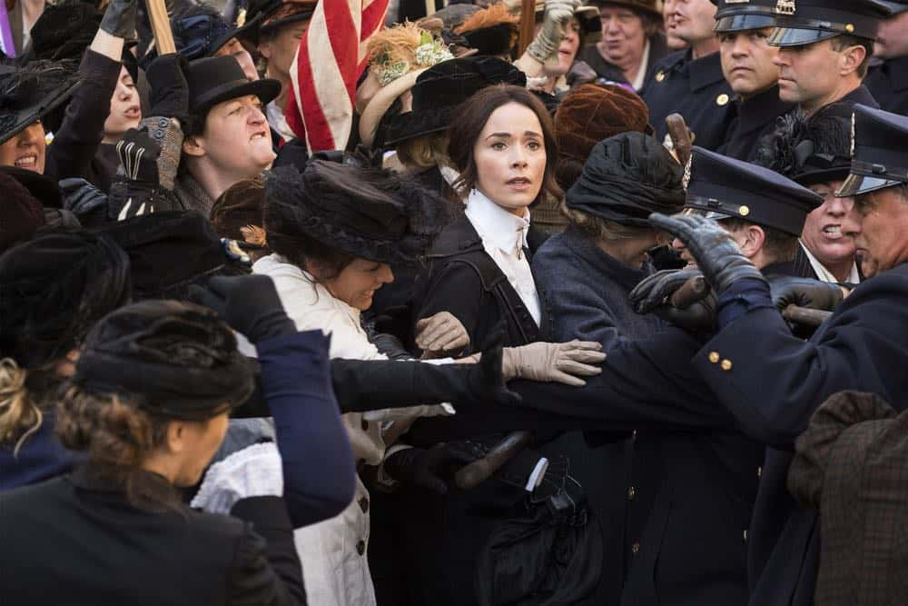 """TIMELESS -- """"Mrs. Sherlock Holmes"""" Episode 207 -- Pictured: Abigail Spencer as Lucy Preston -- (Photo by: Justin Lubin/NBC)"""