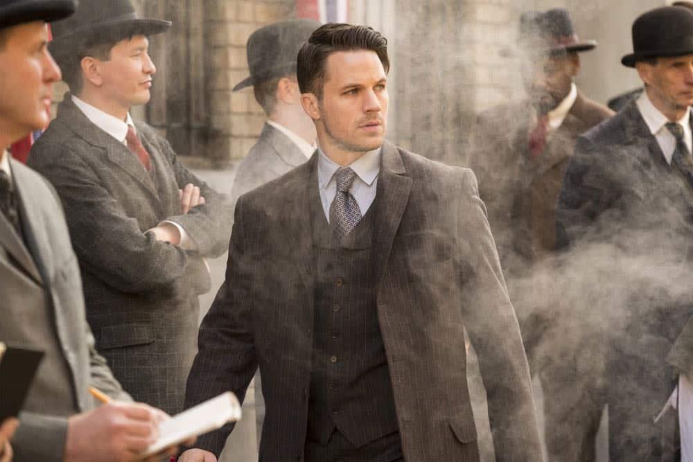 "TIMELESS -- ""Mrs. Sherlock Holmes"" Episode 207 -- Pictured: Matt Lanter as Wyatt Logan -- (Photo by: Justin Lubin/NBC)"
