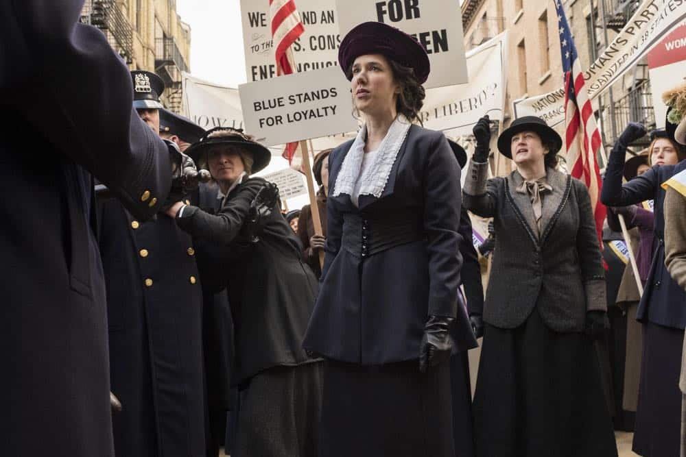 """TIMELESS -- """"Mrs. Sherlock Holmes"""" Episode 207 -- Pictured: Erica Dasher as Alice Paul -- (Photo by: Justin Lubin/NBC)"""
