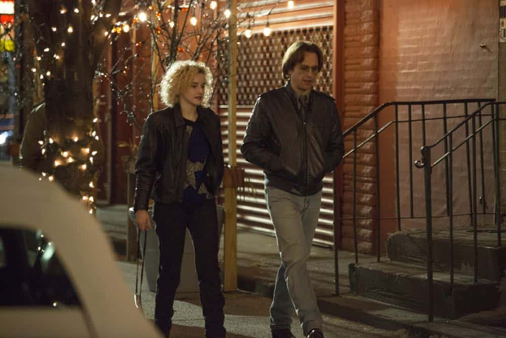 """THE AMERICANS -- """"The Great Patriotic War"""" -- Season 6, Episode 5 (Airs Wednesday, April 25, 10:00 pm/ep) -- Pictured: (l-r) Julia Garner as Kimmy, Matthew Rhys as Philip Jennings. CR: Eric Liebowitz/FX"""
