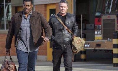 "CHICAGO FIRE -- ""The Strongest Among Us"" Episode 620 -- Pictured: (l-r) Eamonn Walker as Wallace Boden, Taylor Kinney as Kelly Severide -- (Photo by: Elizabeth Morris/NBC)"