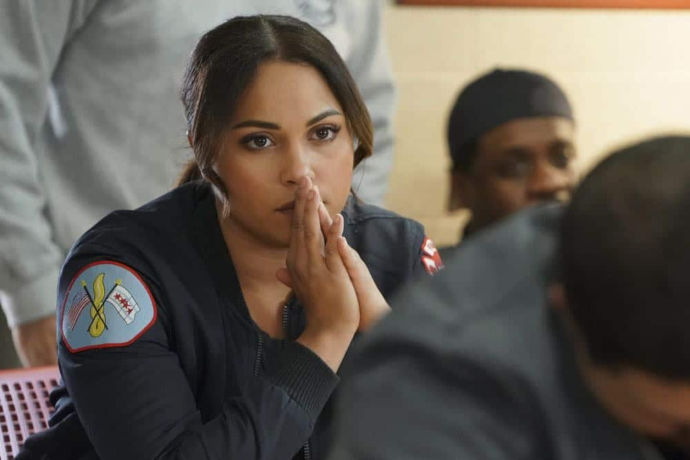 "CHICAGO FIRE -- ""The Strongest Among Us"" Episode 620 -- Pictured: Monica Raymund as Gabriela Dawson -- (Photo by: Elizabeth Morris/NBC)"