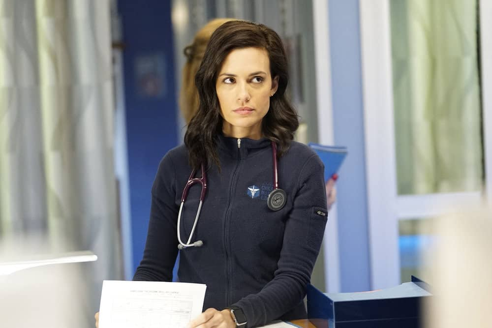 """CHICAGO MED -- """"The Parent Trap"""" Episode 317 -- Pictured: Torrey DeVitto as Natalie Manning -- (Photo by: Elizabeth Sisson/NBC)"""