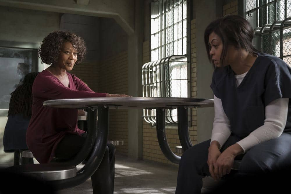 "EMPIRE: Pictured L-R: Guest star Alfre Woodard and Taraji P. Henson in the ""False Face"" episode of EMPIRE airing Wednesday, April 25 (8:00-9:00 PM ET/PT) on FOX. CR: Fox Broadcasting Co. CR: Chuck Hodes"