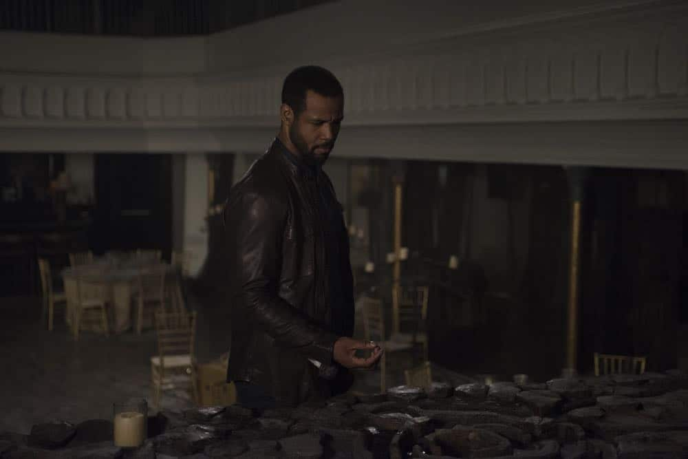 """SHADOWHUNTERS - """"Salt In The Wound"""" - With the Owl's identity revealed, Alec, Isabelle, and Clary head to Alicante to try and find a way to stop him. Luke and Simon team up to track Lilith's  latest possible victim. Maia reflects on her past. This episode of """"Shadowhunters"""" airs Tuesday, May 1 (8:00 - 9:00 p.m. EDT) on Freeform. (Freeform/John Medland) ISAIAH MUSTAFA"""