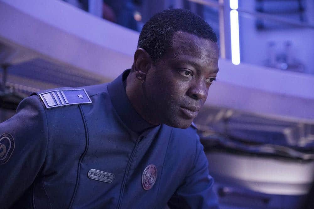 "THE EXPANSE -- ""Assured Destruction"" Episode 303 -- Pictured: Martin Roach as Admiral Souther -- (Photo by: Rafy/Syfy)"