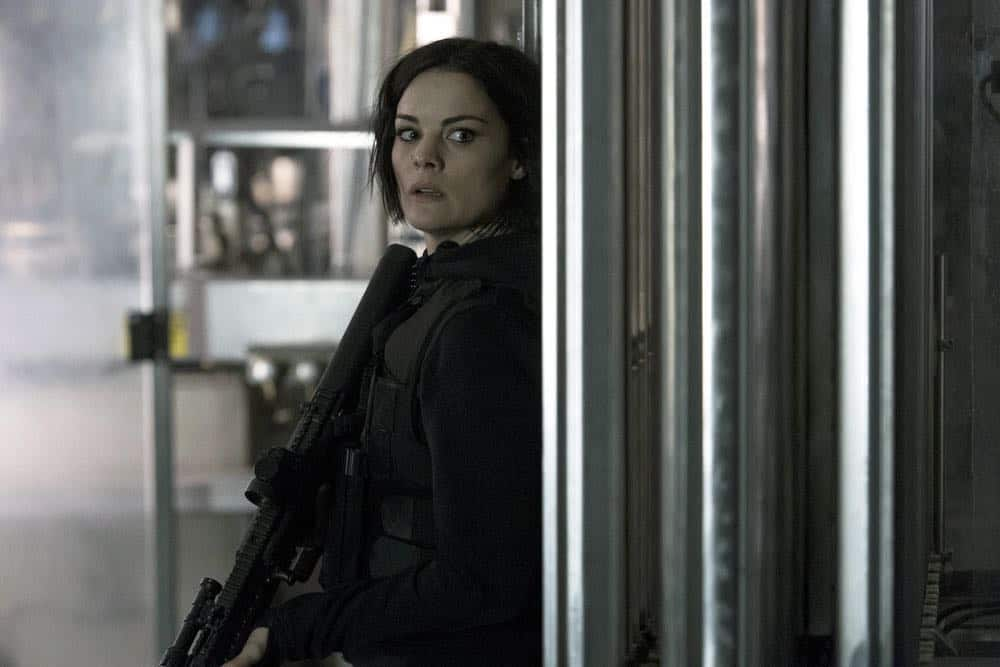 "BLINDSPOT -- ""Galaxy of Minds"" Episode 319 -- Pictured: Jaimie Alexander as Jane Doe -- (Photo by: David Giesbrecht/NBC/Warner Bros)"