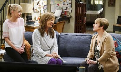 """A Taco Bowl and a Tubby Seamstress"" -- Christy is concerned that she and Bonnie might lose their apartment when Bonnie locks horns with the tough new building owner, Rita (Patti Lupone), on MOM, Thursday, April 26 (9:01-9:30 PM, ET/PT) on the CBS Television Network. Pictured L to R: Anna Faris as Christy, Allison Janney as Bonnie, and Patti Lupone as Rita. Photo: Monty Brinton/CBS ©2018 CBS Broadcasting, Inc. All Rights Reserved"