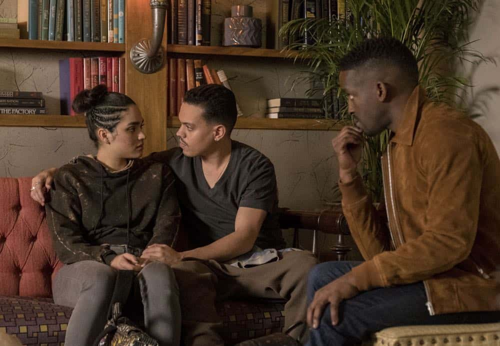 "STAR: L-R: Brittany O'Grady and guest stars Evan Ross and Elijah Kelley in the ""Let the Good Times Roll"" episode of STAR airing Wednesday, May 2 (9:00-10:00 PM ET/PT) on FOX. ©2018 Fox Broadcasting Co. CR: Wilford Harewood/FOX"