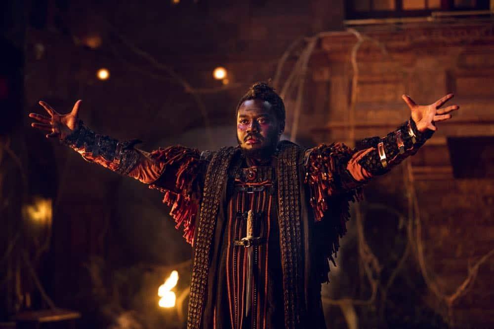 Babou Ceesay as Pilgrim- Into the Badlands _ Season 3, Episode 2 - Photo Credit: Aidan Monaghan/AMC