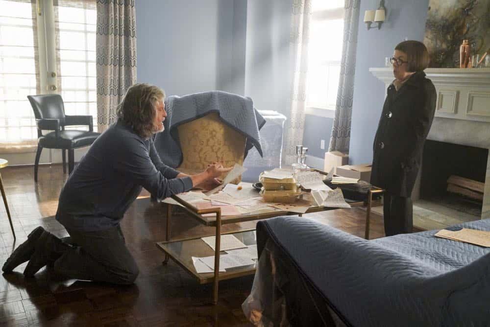 """Reentry"" - Pictured: Jeff Kober (Harris Keane) and Linda Hunt (Henrietta ""Hetty"" Lange). Callen, Sam and Nell travel to the Angeles Forest to search for pieces of a failed rocket launch, including a top-secret government device. Also, Hetty tries to help Keane (Jeff Kober) acclimate to life in the states, on NCIS: LOS ANGELES, Sunday, April 29 (9:00-10:00 PM, ET/PT) on the CBS Television Network. Photo: Bill Inoshita/CBS ©2018 CBS Broadcasting, Inc. All Rights Reserved."