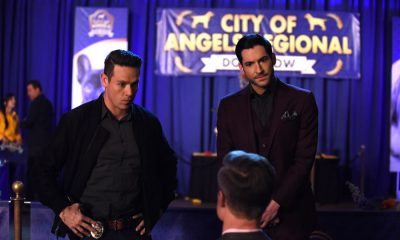 "LUCIFER: L-R: Kevin Alejandro and Tom Ellis in the ""All Hands on Decker"" episode of LUCIFER airing Monday, April 30 (8:00-9:00 PM ET/PT) on FOX. CR: FOX"