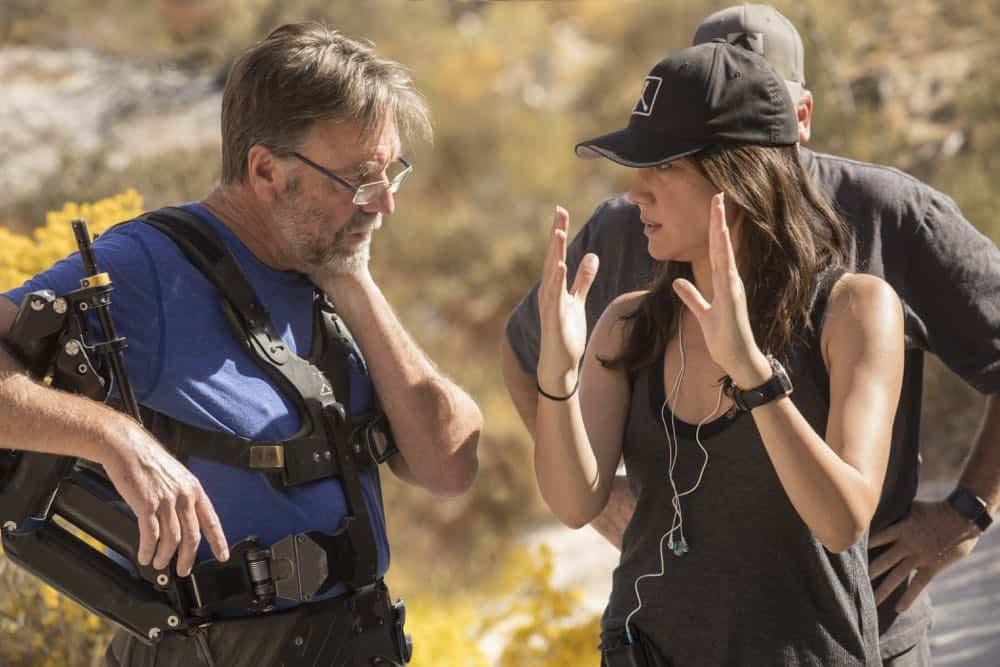 Episode 14 (season 2, episode 4), debut 5/13/18: Camera Operator Chris Haarhof, Lisa Joy. photo: John P. Johnson/HBO
