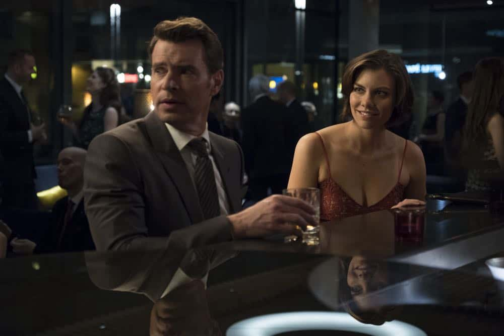 """WHISKEY CAVALIER - """"Pilot"""" - """"Whiskey Cavalier"""" is a high-octane, hour-long action dramedy that follows the adventures of tough but tender FBI super-agent Will Chase (codename: """"Whiskey Cavalier""""), played by Scott Foley. Following an emotional break-up, Chase is assigned to work with badass CIA operative Francesca """"Frankie"""" Trowbridge (codename: """"Fiery Tribune""""), played by Lauren Cohan. Together, they lead an inter-agency team of flawed, funny and heroic spies who periodically save the world (and each other) while navigating the rocky roads of friendship, romance and office politics. The series is from writer/executive producer Dave Hemingson and executive producer Bill Lawrence with Warner Bros. Television.(ABC/Larry D. Horricks)<br />"""