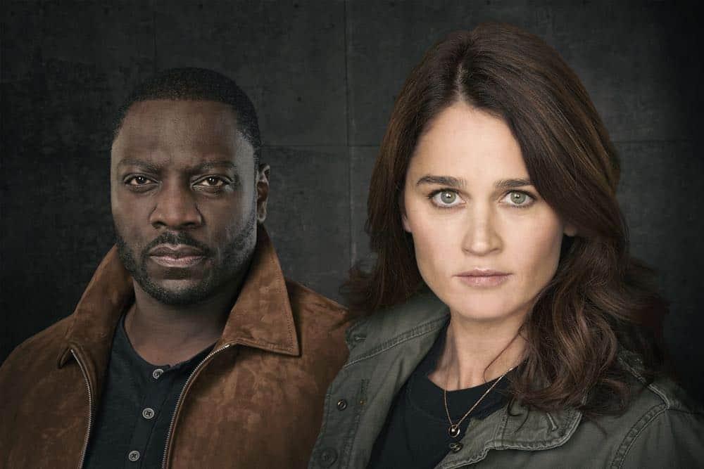 "THE FIX - ABC's ""The Fix"" stars Adewale Akinnuoye-Agbaje as Sevvy Johnson, and Robin Tunney as Maya Travis. (ABC/Ed Herrera)"