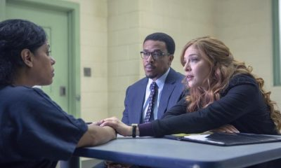 PROVEN INNOCENT: L-R: Guest star Liza Colón-Zayas, Russell Hornsby and Rachelle Lefevre in PROVEN INNOCENT on FOX. ©2018 Fox Broadcasting Co. Cr: Adrian Burrows/FOX