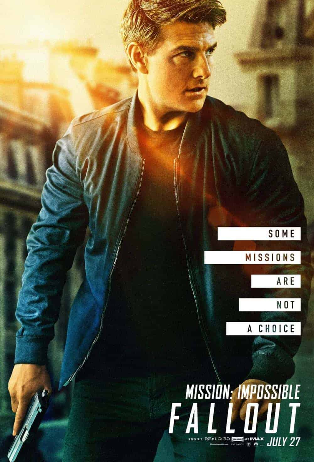 Mission Impossible Fallout Character Movie Poster Tom Cruise