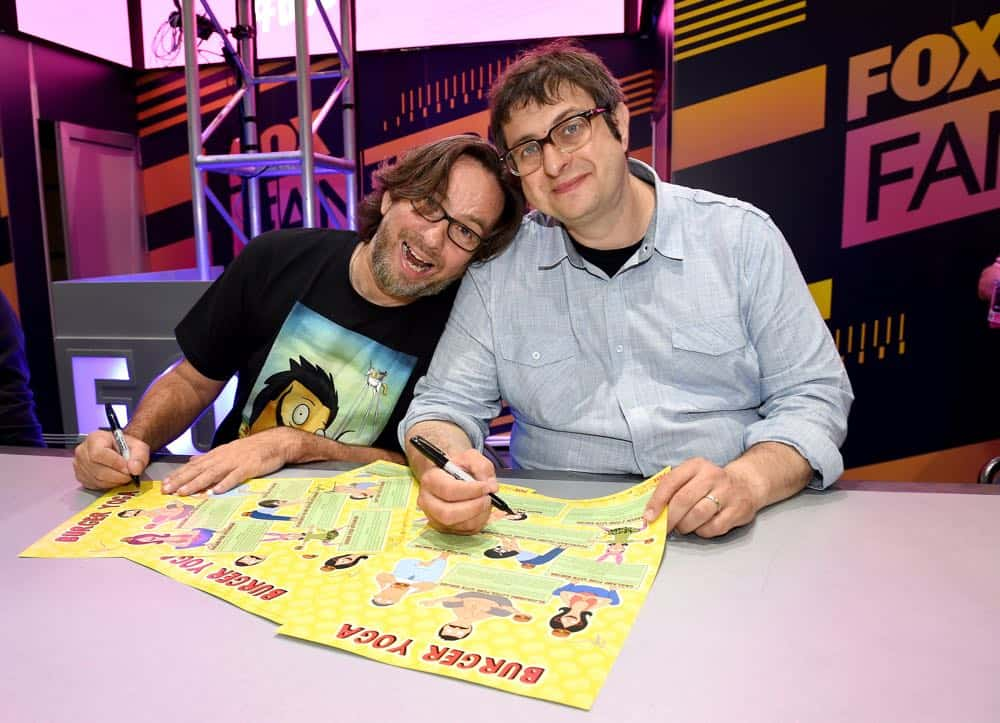FOX FANFARE AT SAN DIEGO COMIC-CON © 2018: L-R: Cast members David Herman and Eugene Mirman during the BOB'S BURGERS booth signing on Friday, July 20 at the FOX FANFARE AT SAN DIEGO COMIC-CON © 2018. CR: Frank Micelotta/FOX © 2018 FOX BROADCASTING