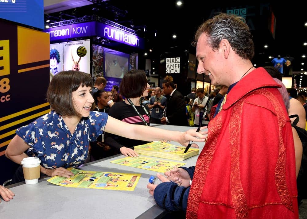 FOX FANFARE AT SAN DIEGO COMIC-CON © 2018: Cast member Kristen Schaal during the BOB'S BURGERS booth signing on Friday, July 20 at the FOX FANFARE AT SAN DIEGO COMIC-CON © 2018. CR: Frank Micelotta/FOX © 2018 FOX BROADCASTING