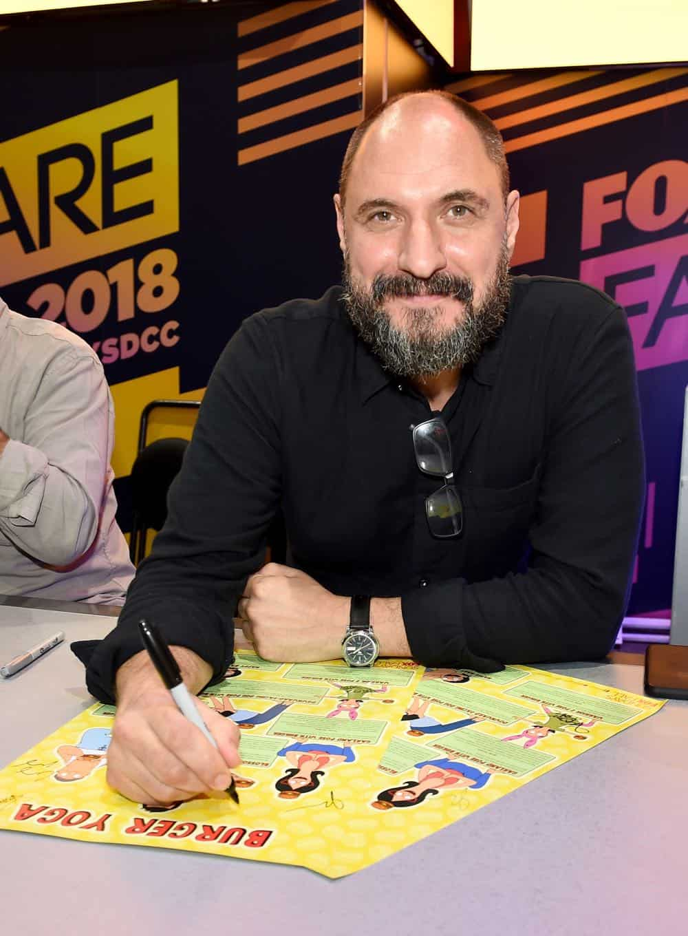 FOX FANFARE AT SAN DIEGO COMIC-CON © 2018: Creator Loren Bouchard during the BOB'S BURGERS booth signing on Friday, July 20 at the FOX FANFARE AT SAN DIEGO COMIC-CON © 2018. CR: Frank Micelotta/FOX © 2018 FOX BROADCASTING