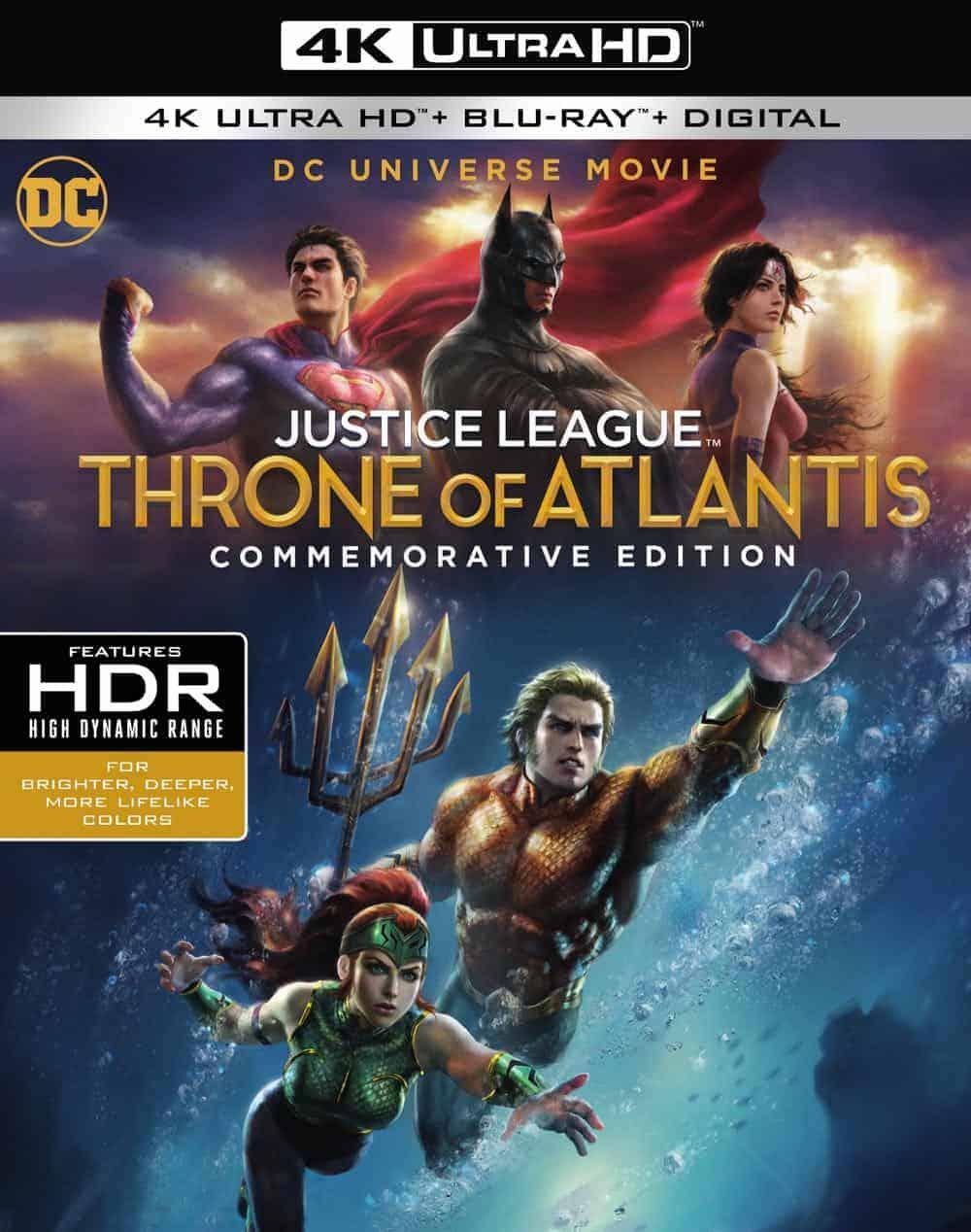 JUSTICE LEAGUE: THRONE OF ATLANTIS Commemorative Edition 4K
