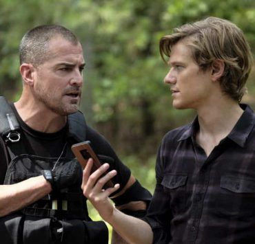 """""""Improvise"""" - Three months after quitting the Phoenix Foundation and moving to Nigeria, Mac puts aside his differences with his father and returns when he hears Jack is the target of a murderous dictator he double-crossed, on the third season premiere of MACGYVER, Friday, Sept. 28 (8:00-9:00 PM, ET/PT) on the CBS Television Network. Pictured: George Eads, Lucas Till. Photo: Guy D'Alema/CBS ©2018 CBS Broadcasting, Inc. All Rights Reserved"""