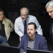 """""""Destiny's Child"""" - One month after Director Vance was kidnapped, Gibbs is assigned the role of Acting Director in his absence while the team searches worldwide for his whereabouts, on the 16th season premiere of NCIS, Tuesday, Sept. 25 (8:00-9:00, ET/PT) on the CBS Television Network. Pictured: Emily Wickersham, Jim Meskimen, Sean Murray, Brian Dietzen. Photo: Monty Brinton/CBS ©2018 CBS Broadcasting, Inc. All Rights Reserved"""