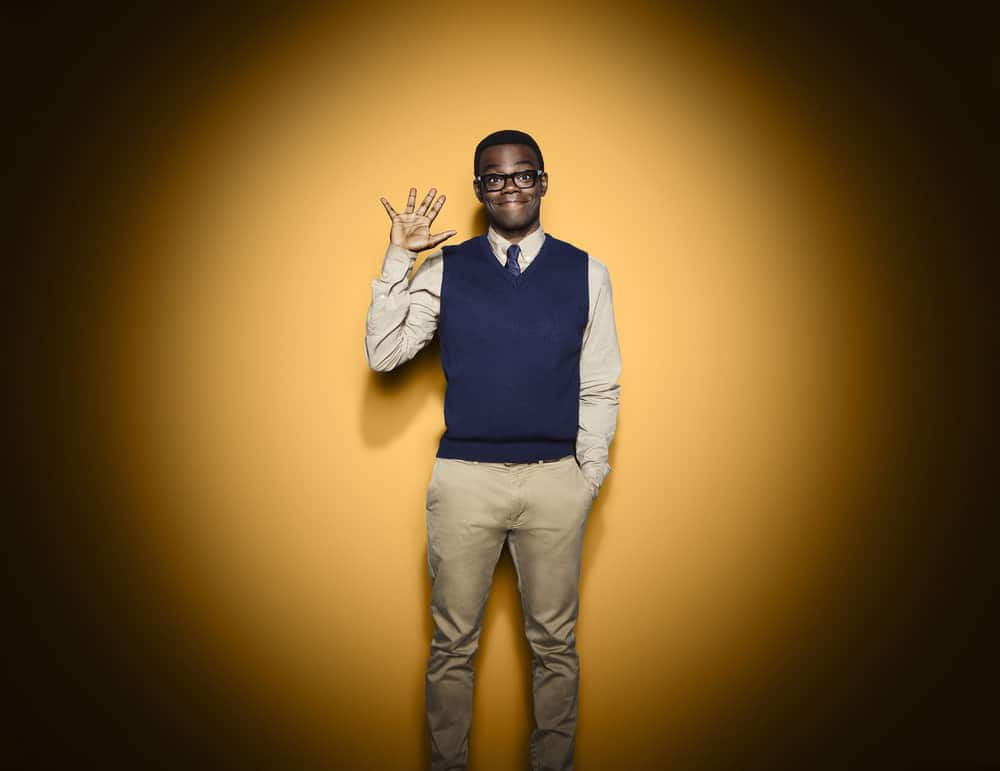 THE GOOD PLACE -- Season: 3 -- Pictured: William Jackson Harper as Chidi -- (Photo by: Andrew Eccles/NBC)