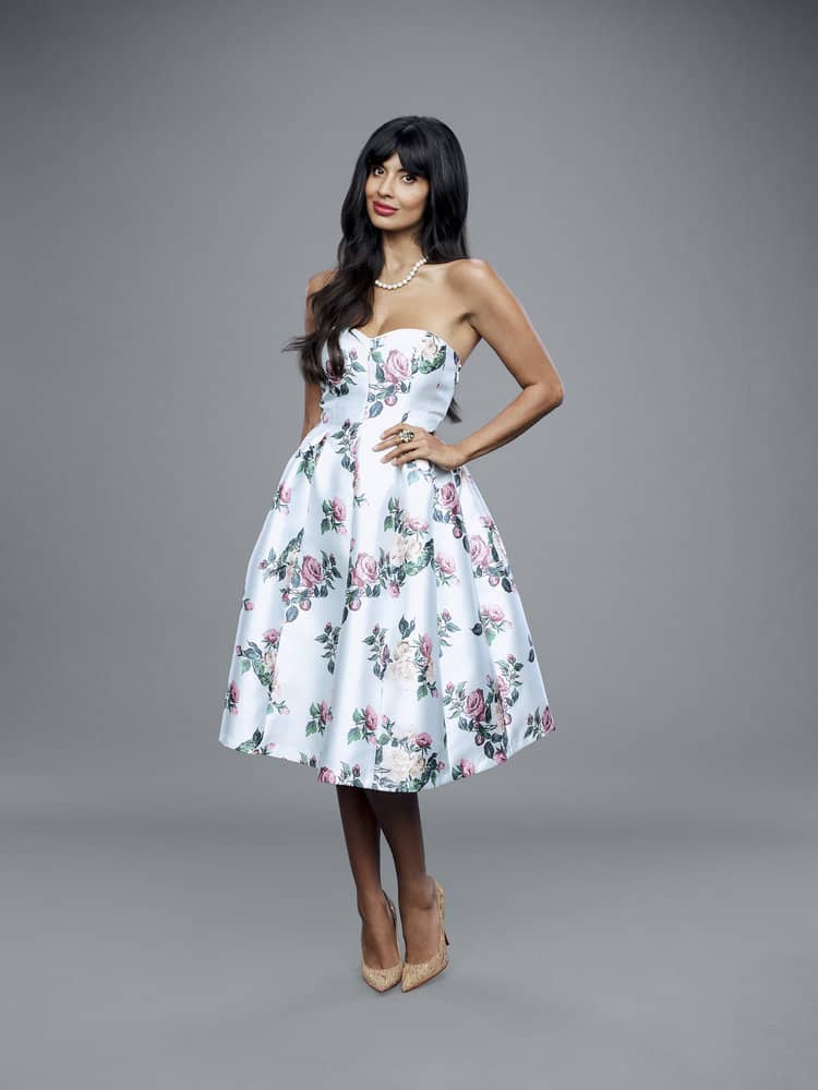 THE GOOD PLACE -- Season: 3 -- Pictured: Jameela Jamil as Tahani -- (Photo by: Andrew Eccles/NBC)