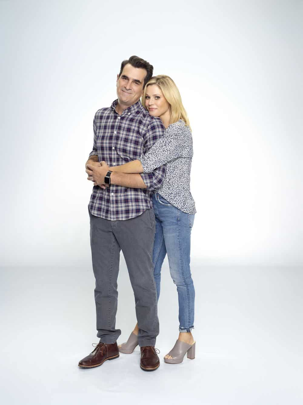 "MODERN FAMILY - ABC's ""Modern Family"" stars Ty Burrell as Phil Dunphy, and Julie Bowen as Claire Dunphy. (ABC/Robert Ashcroft)"