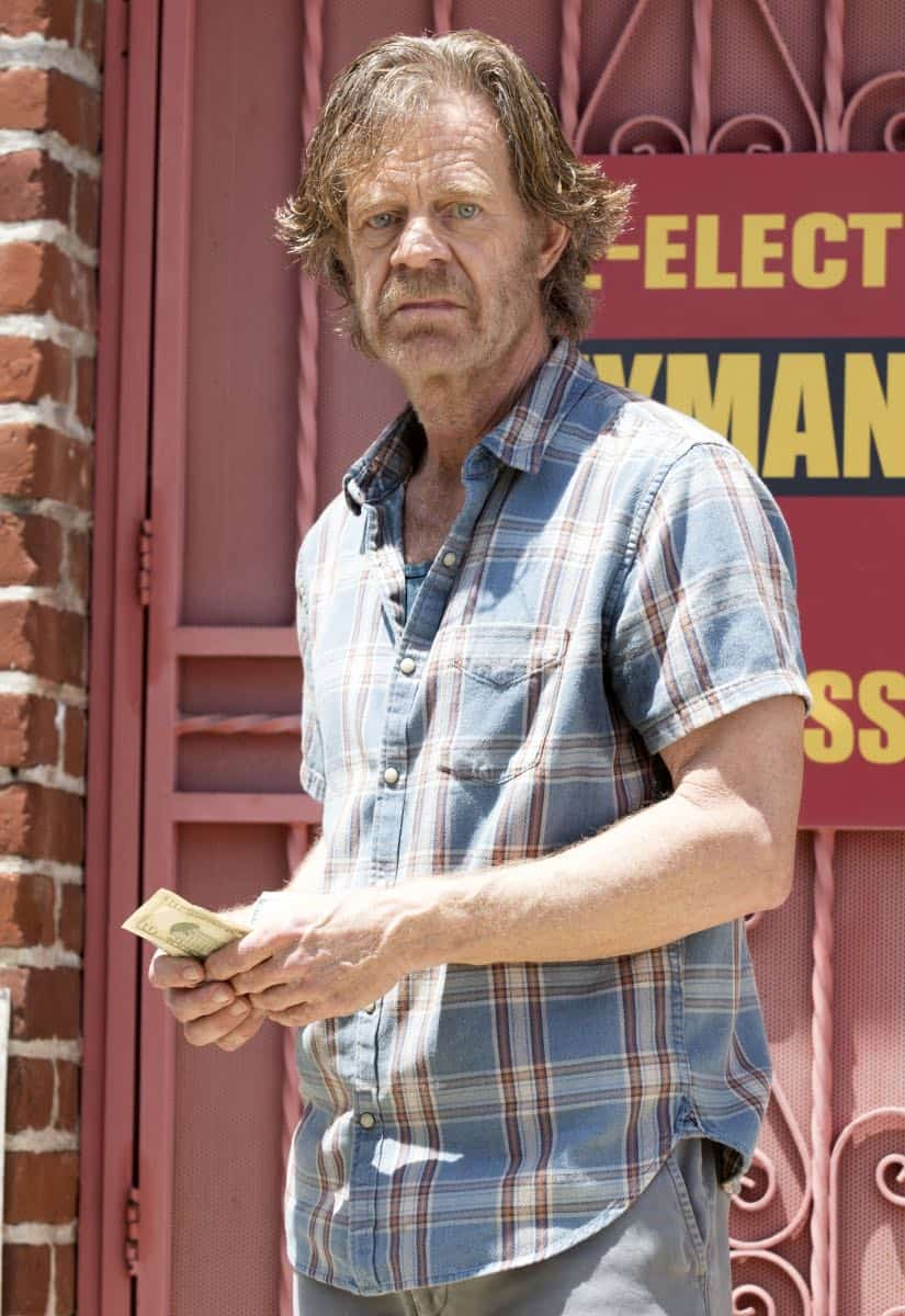 "William H. Macy as Frank Gallagher in SHAMELESS (Season 9, Episode 02, ""Mo White for President""). - Photo: Paul Sarkis/SHOWTIME - Photo ID: SHAMELESS_902_1398"