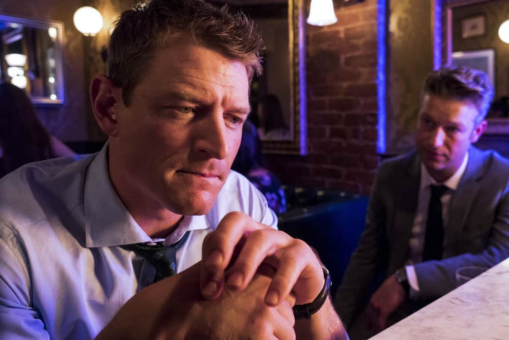 "LAW & ORDER: SPECIAL VICTIMS UNIT -- ""Man Up"" Episode 2001 -- Pictured: (l-r) Philip Winchester as Peter Stone, Peter Scanavino as Dominick ""Sonny"" Carisi -- (Photo by: Barbara Nitke/NBC)"