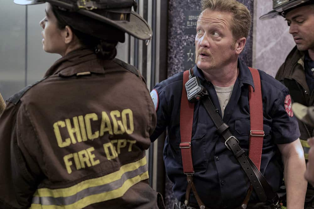 "CHICAGO FIRE -- ""A Closer Eye"" Episode 701 -- Pictured: Christian Stolte as Mouch -- (Photo by: Matt Dinerstein/NBC)"