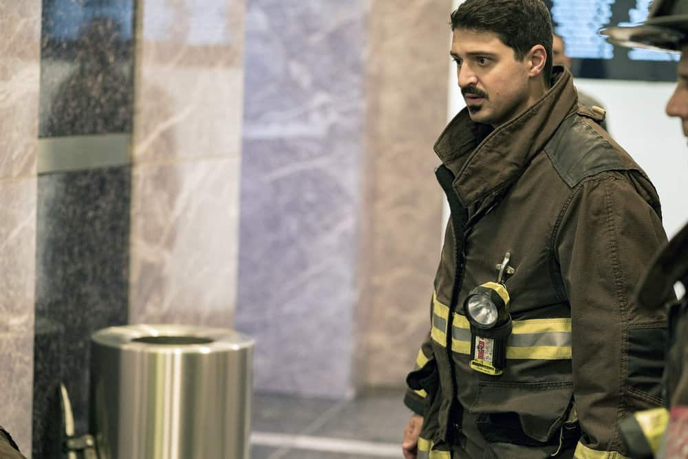 "CHICAGO FIRE -- ""A Closer Eye"" Episode 701 -- Pictured: Yuri Sardarov as Otis -- (Photo by: Matt Dinerstein/NBC)"