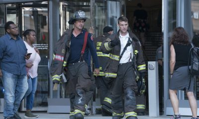 "CHICAGO FIRE -- ""A Closer Eye"" Episode 701 -- Pictured: (l-r) Taylor Kinney as Kelly Severide, Jesse Spencer as Matthew Casey -- (Photo by: Elizabeth Sisson/NBC)"