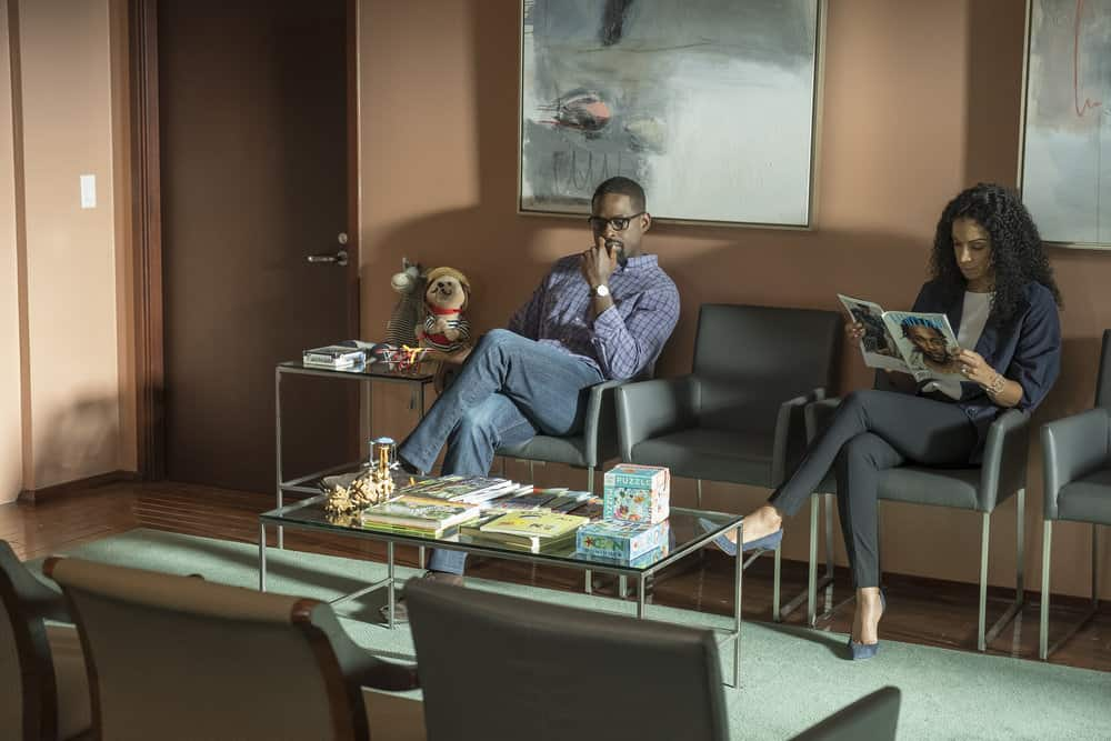 "THIS IS US -- ""Ave Maria"" Episode 301 -- Pictured: (l-r) Sterling K. Brown as Randall, Susan Kelechi Watson as Beth -- (Photo by: Ron Batzdorff/NBC)"