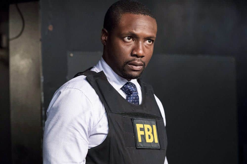 "BLINDSPOT -- ""Hella Duplicitous"" Episode 401 -- Pictured: Rob Brown as Edgar Reade -- (Photo by: Virginia Sherwood/NBC/Warner Bros.)"