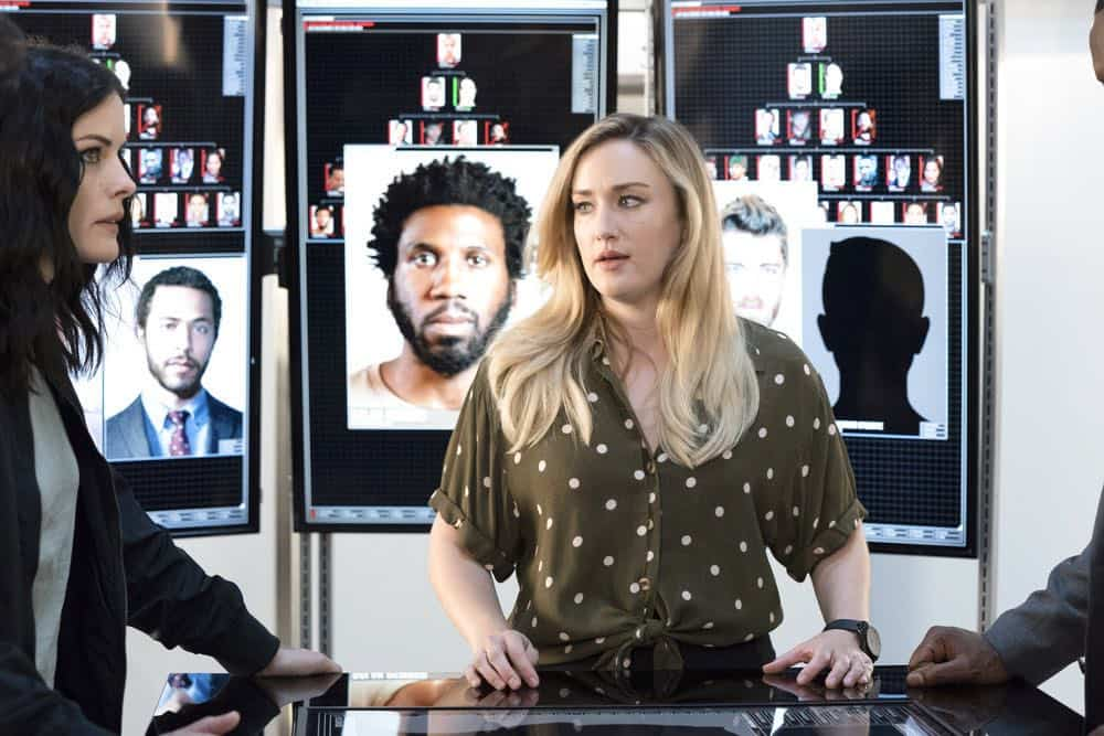 "BLINDSPOT -- ""Hella Duplicitous"" Episode 401 -- Pictured: Ashley Johnson as Patterson -- (Photo by: Virginia Sherwood/NBC/Warner Bros.)"