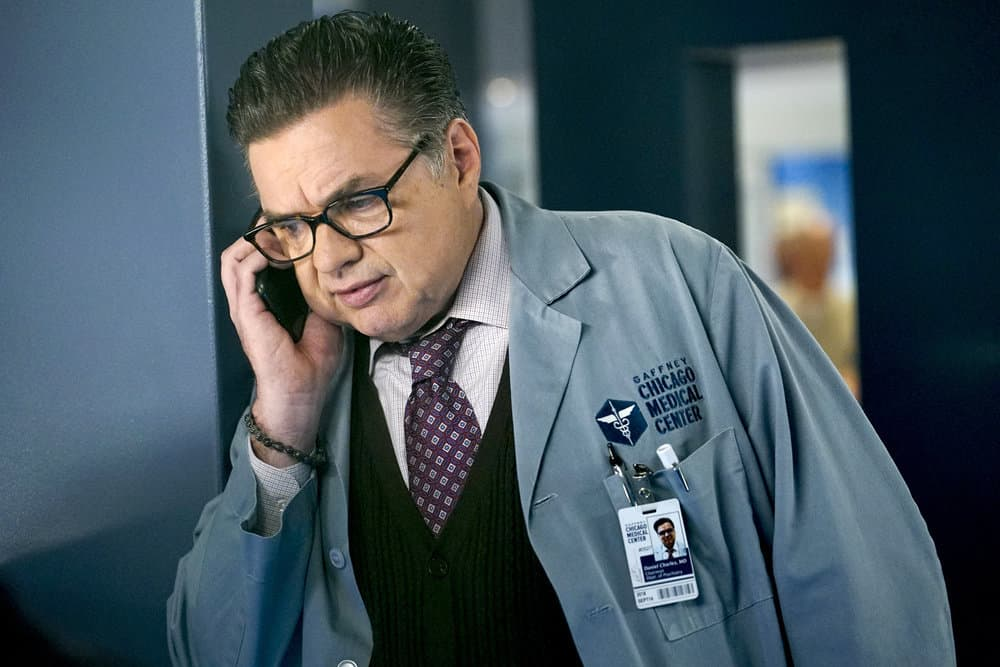 "CHICAGO MED -- ""Be My Better Half"" Episode 401 -- Pictured: Oliver Platt as Dr. Daniel Charles -- (Photo by: Elizabeth Sisson/NBC)"