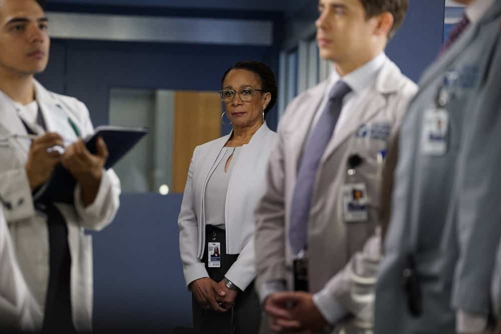 "CHICAGO MED -- ""Be My Better Half"" Episode 401 -- Pictured: S. Epatha Merkerson as Sharon Goodwin -- (Photo by: Elizabeth Sisson/NBC)"