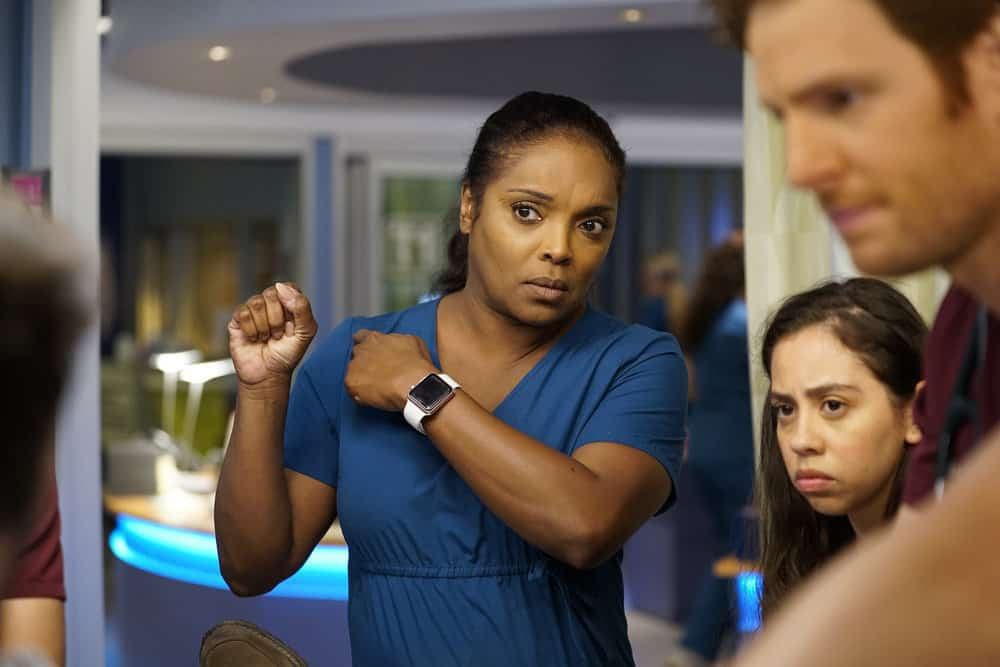 "CHICAGO MED -- ""Be My Better Half"" Episode 401 -- Pictured: Marlyne Barrett as Maggie Lockwood -- (Photo by: Elizabeth Sisson/NBC)"