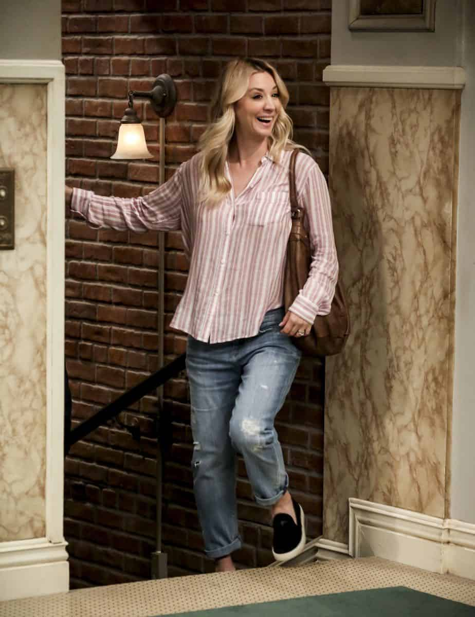 """The Conjugal Configuration"" - Pictured: Penny (Kaley Cuoco). Sheldon and Amy's honeymoon runs aground in New York, while Penny and Leonard discover they are uncomfortably similar to Amy's parents, Mr. and Mrs. Fowler (Teller and Kathy Bates). Also, Koothrappali insults physicist Neil deGrasse Tyson and starts a Twitter war, on the 12th season premiere of THE BIG BANG THEORY, on a special night, Monday, Sept. 24 (8:00-8:30 PM, ET/PT) on the CBS Television Network. Photo: Michael Yarish/Warner Bros. Entertainment Inc. © 2018 WBEI. All rights reserved."