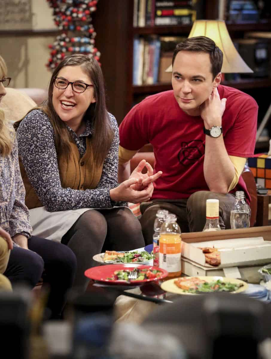 """The Wedding Gift Wormhole"" -- Pictured: Amy Farrah Fowler (Mayim Bialik) and Sheldon Cooper (Jim Parsons). Sheldon and Amy drive themselves crazy trying to figure out what ""perfect gift"" Leonard and Penny gave them for their wedding. Also, Koothrappali decides he wants to settle down and asks his father to arrange a marriage for him, on THE BIG BANG THEORY, when it moves to its regular time slot, Thursday, Sept. 27 (8:00-8:31 PM, ET/PT) on the CBS Television Network. Photo: Michael Yarish/CBS ©2018 CBS Broadcasting, Inc. All Rights Reserved."