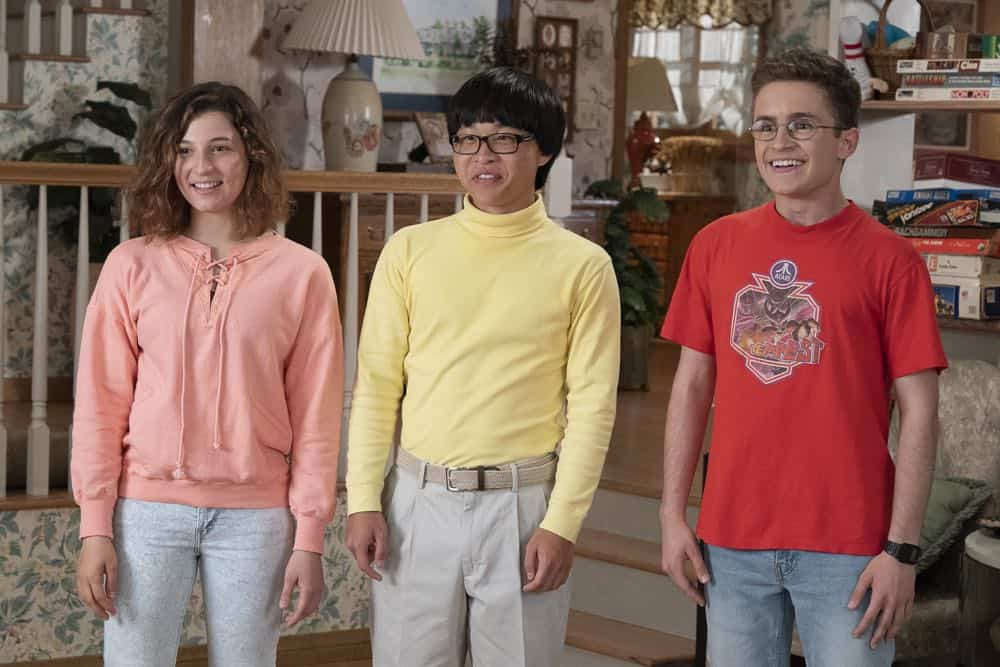 "THE GOLDBERGS - ""Sixteen Candles"" - It's Adam's 16th birthday, but his parents are too distracted by Barry and Lainey's engagement and Erica's band ambitions to remember their youngest son's big day. But the situation presents an opportunity for Adam to ask Erica to put him on the high school social map.  Meanwhile, Beverly thinks she can scare Barry and Lainey straight with the reality of being adults, on the season premiere of ""The Goldbergs,"" WEDNESDAY, SEPT. 26 (8:00–8:30 p.m. EDT), on The ABC Television Network. (ABC/Ron Tom) STEPHANIE KATHERINE GRANT, KENNY RIDWAN, SEAN GIAMBRONE"