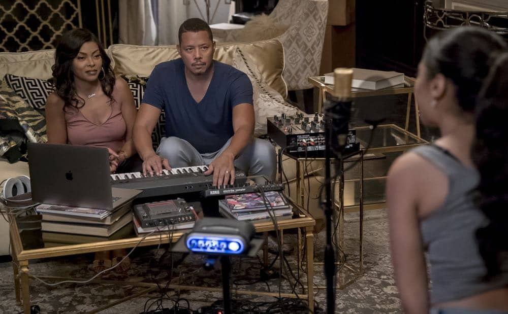 "EMPIRE: L-R: Taraji P. Henson and Terrence Howard in the ""Steal From the Thief"" Season Five premiere episode of EMPIRE airing Wednesday, September 26 (8:00-9:00 PM ET/PT) on FOX. @2018 Fox Broadcasting Co. CR: Chuck Hodes/FOX."