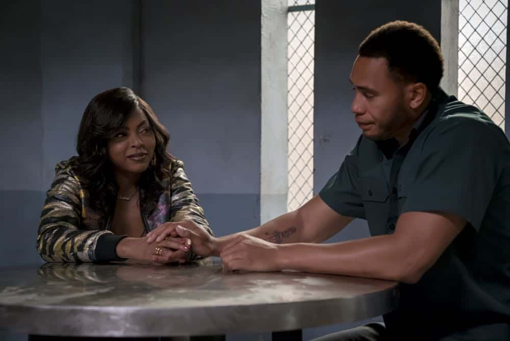 "EMPIRE: L-R: Taraji P. Henson and Trai Byers in the ""Steal From the Thief"" Season Five premiere episode of EMPIRE airing Wednesday, September 26 (8:00-9:00 PM ET/PT) on FOX. @2018 Fox Broadcasting Co. CR: Chuck Hodes/FOX."
