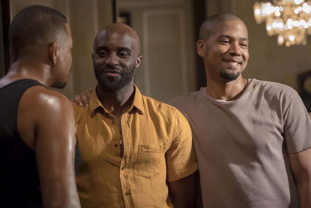 "EMPIRE: L-R: Toby Onwumere and Jussie Smollett in the ""Steal From the Thief"" Season Five premiere episode of EMPIRE airing Wednesday, September 26 (8:00-9:00 PM ET/PT) on FOX. @2018 Fox Broadcasting Co. CR: Chuck Hodes/FOX."