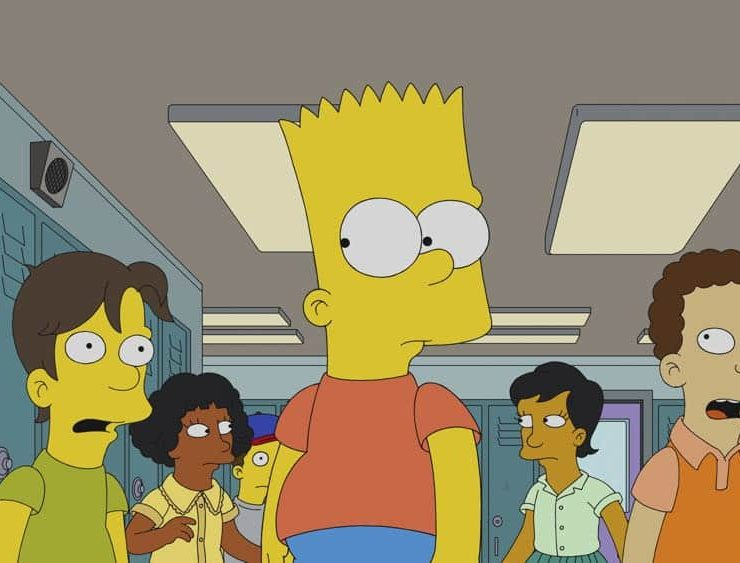 """THE SIMPSONS: Bart takes a dare, and ends up in the hospital. To cover for himself and Homer, he says he went to Heaven and met Jesus. Christian producers offer the Simpsons a movie deal, which Homer takes. But Bart can't deal with the guilt and comes clean to Marge after the movie is finished in the all-new """"Bart's Not Dead"""" episode of THE SIMPSONS airing Sunday, Sept. 30, (8:00-8:30 PM ET/PT). THE SIMPSONS ™ and © 2018 TCFFC ALL RIGHTS RESERVED"""